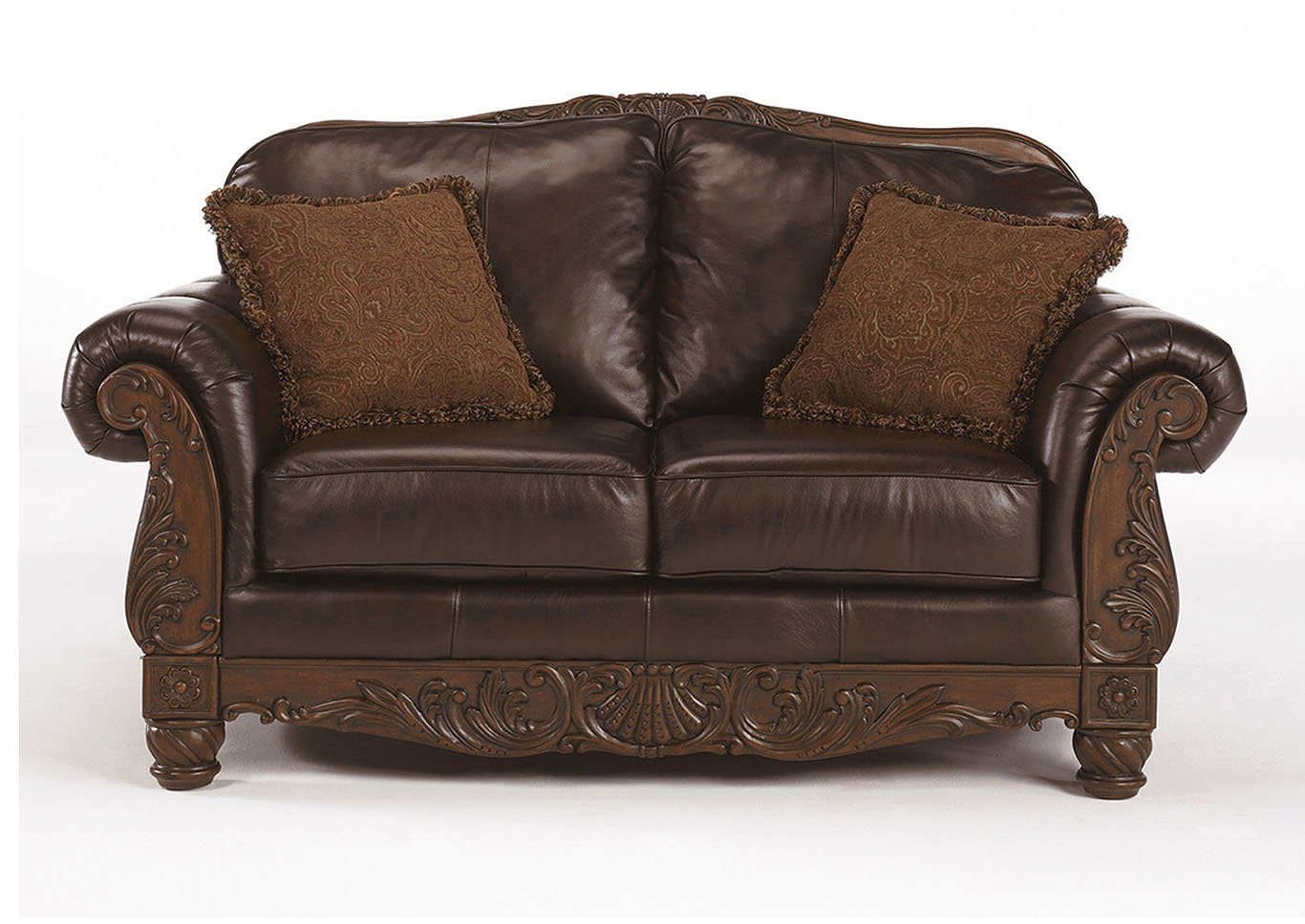 Furniture outlet chicago il north shore dark brown loveseat for Ashley north shore chaise