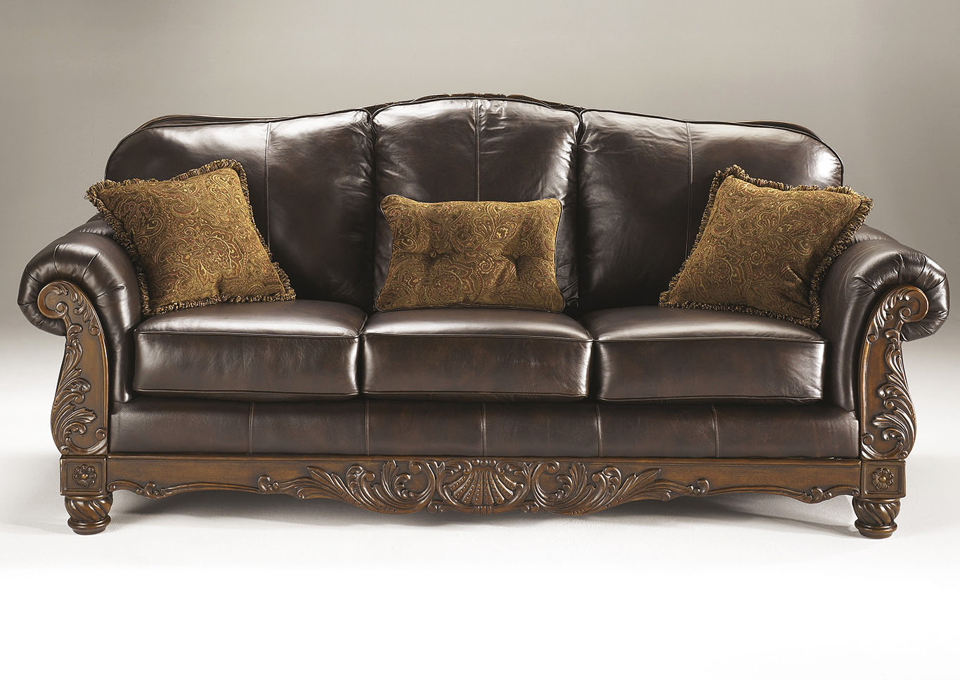 United Furniture Style Springfield Pa North Shore Dark Brown Sofa
