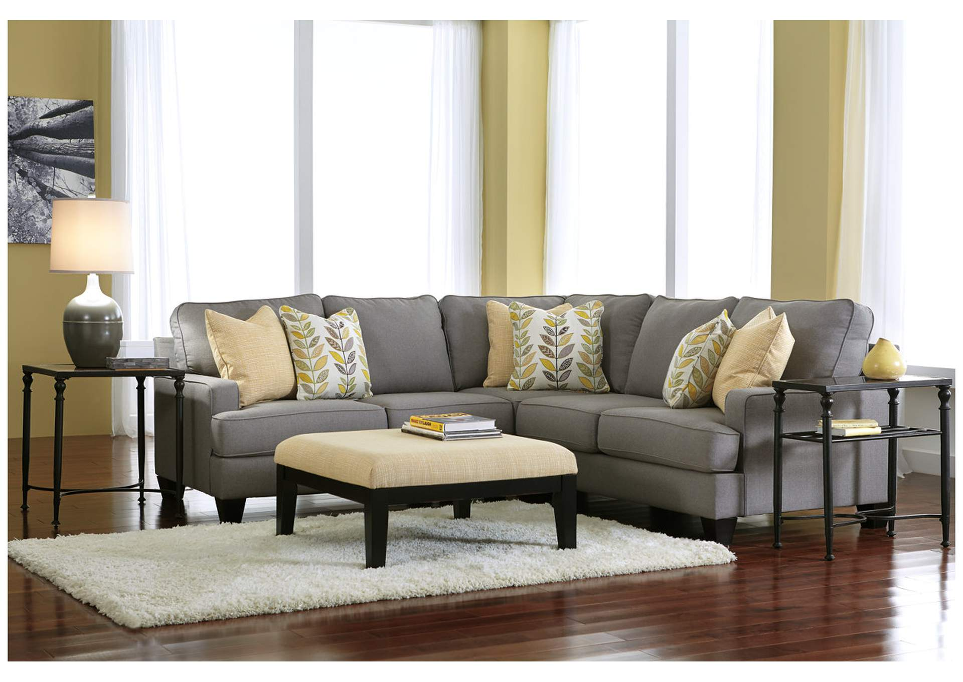 Jennifer Convertibles Sofas Sofa Beds Bedrooms Dining Rooms More Chamberly Alloy Sectional