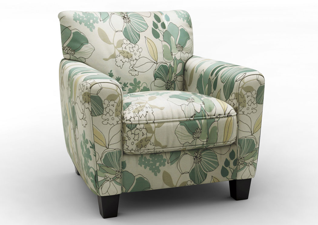 Cozi Furniture New Carrollton Md Daystar Seafoam Accent Chair