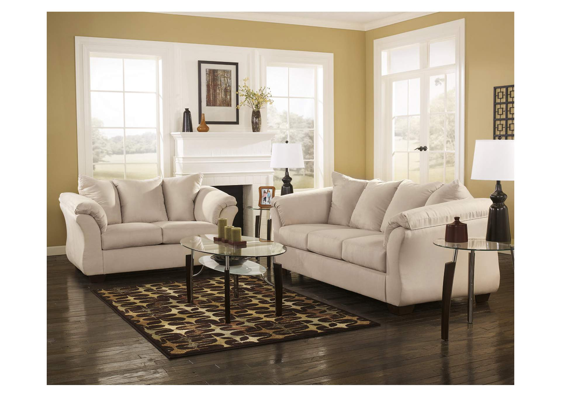 Darcy Stone Sofa and Loveseat 700 x 489