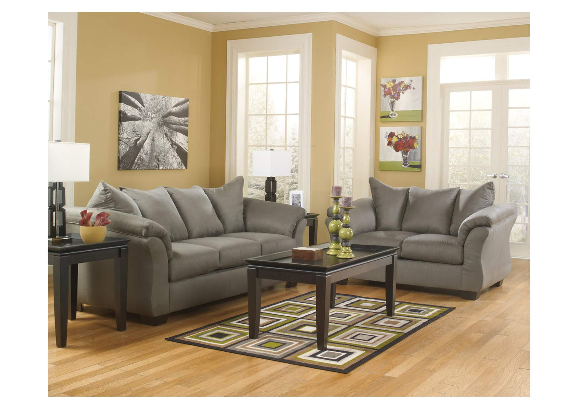 Harlem Furniture Manhattan Bronx Ny Darcy Cobblestone Sofa Loveseat