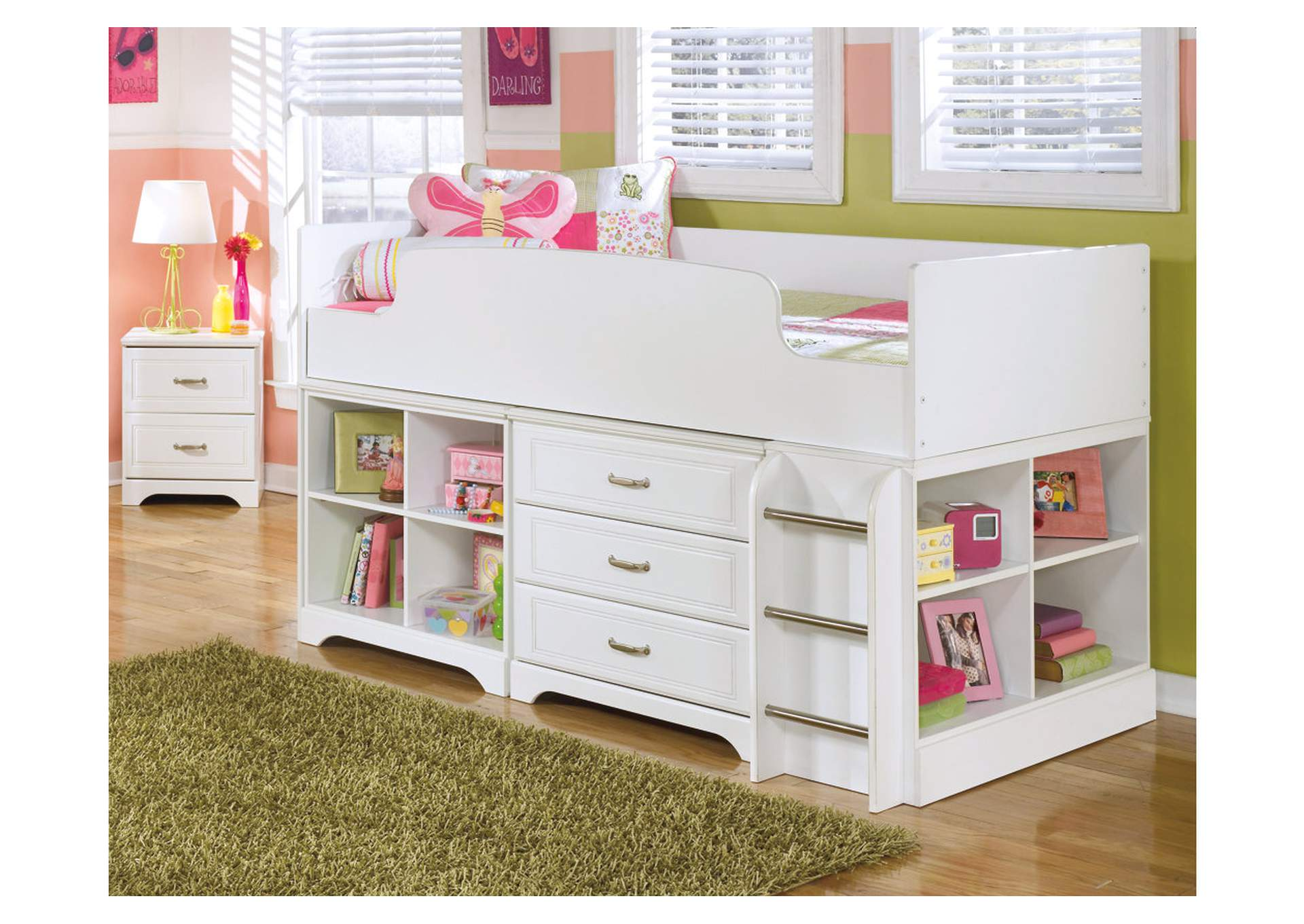 Simple http myfurnishingcenter category youth lulu twin loft bed w storage
