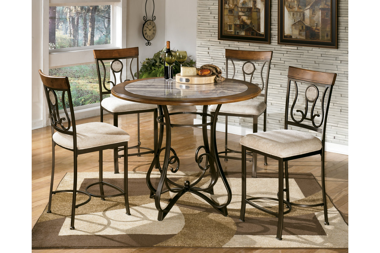 Ramos Furniture Hopstand Counter Height Dining Table w 4
