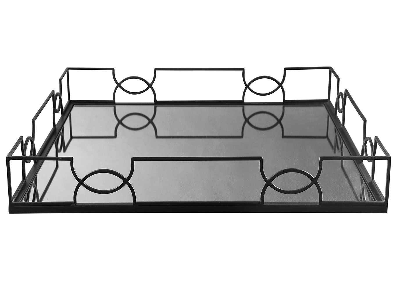 Dionicio Black Metal Tray,Signature Design By Ashley