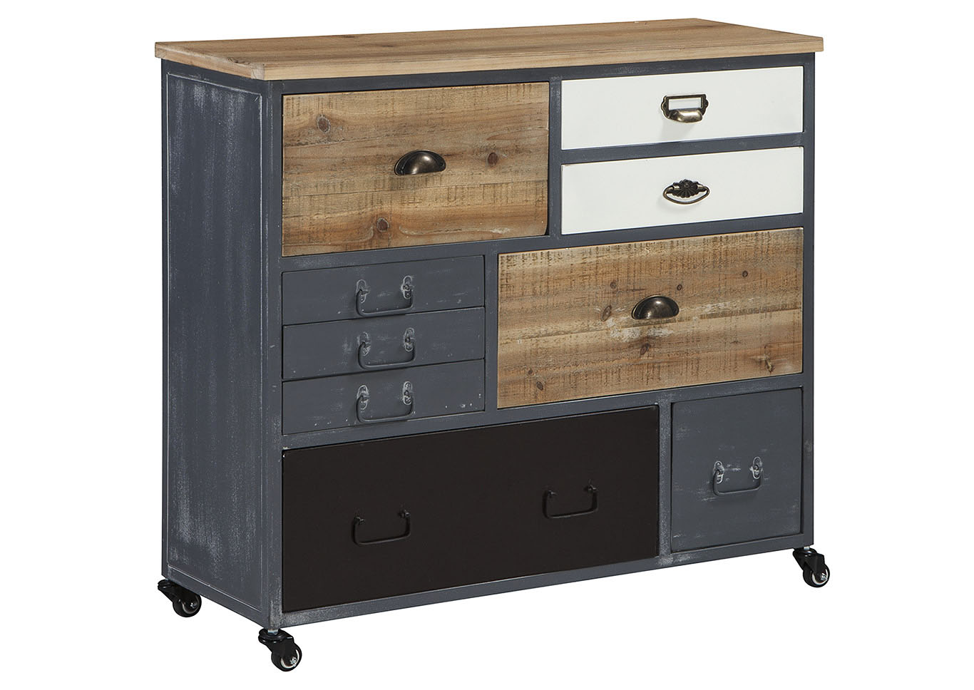 Ponder Ridge Gray Accent Cabinet,Signature Design By Ashley