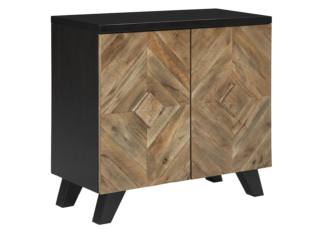Robin Ridge Two-Tone Brown Door Accent Cabinet,Signature Design By Ashley
