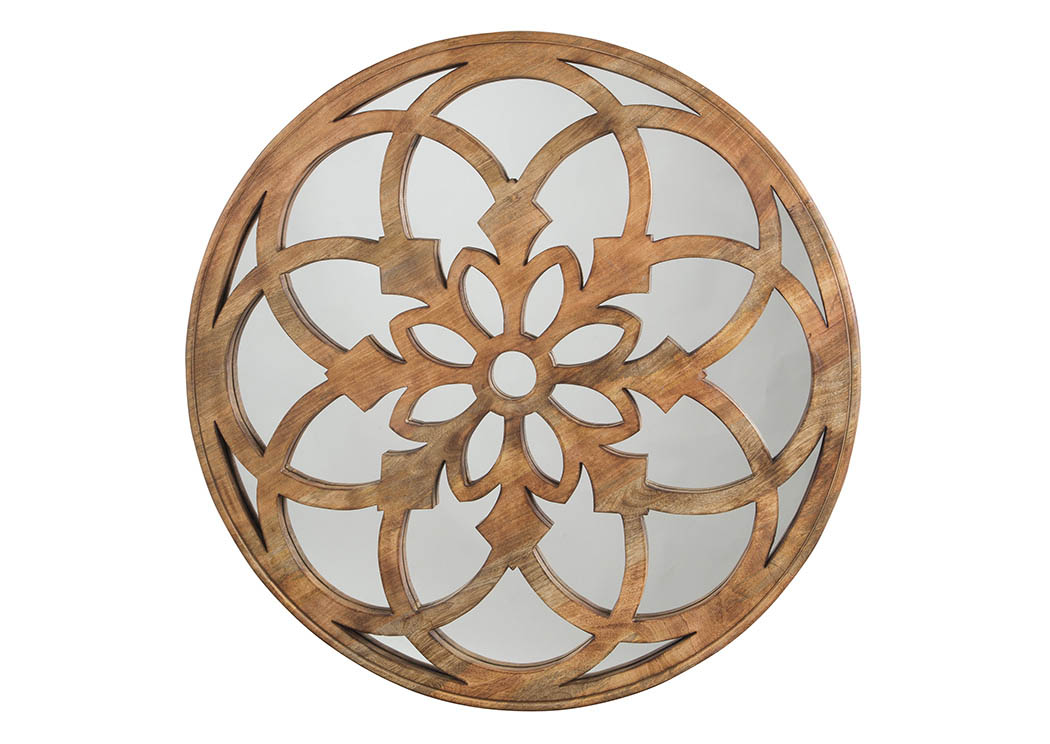 Oilhane Natural Accent Mirror,Signature Design By Ashley