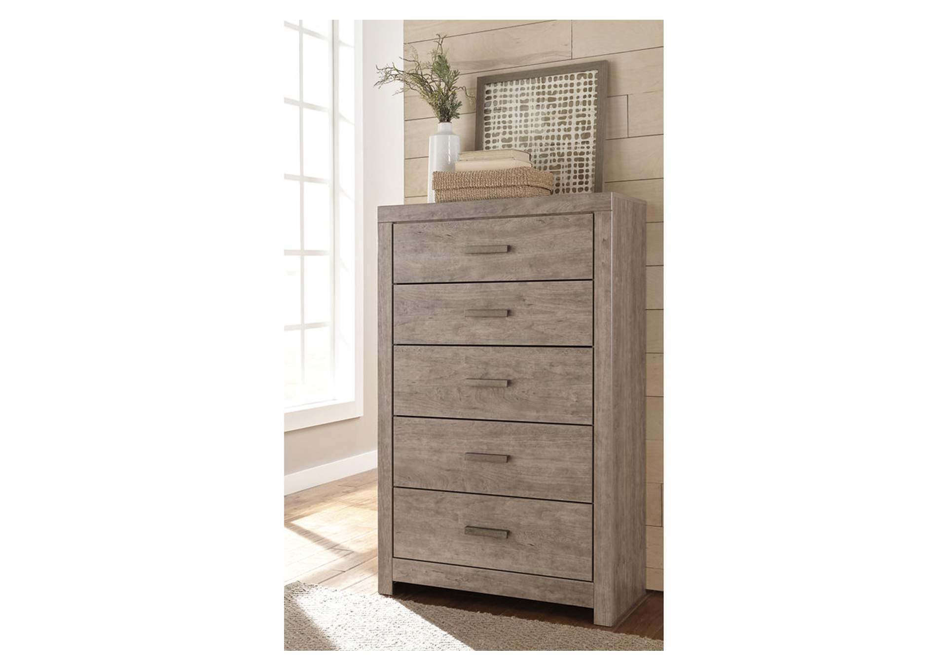 Culverbach Gray 5 Drawer Chest,Signature Design By Ashley