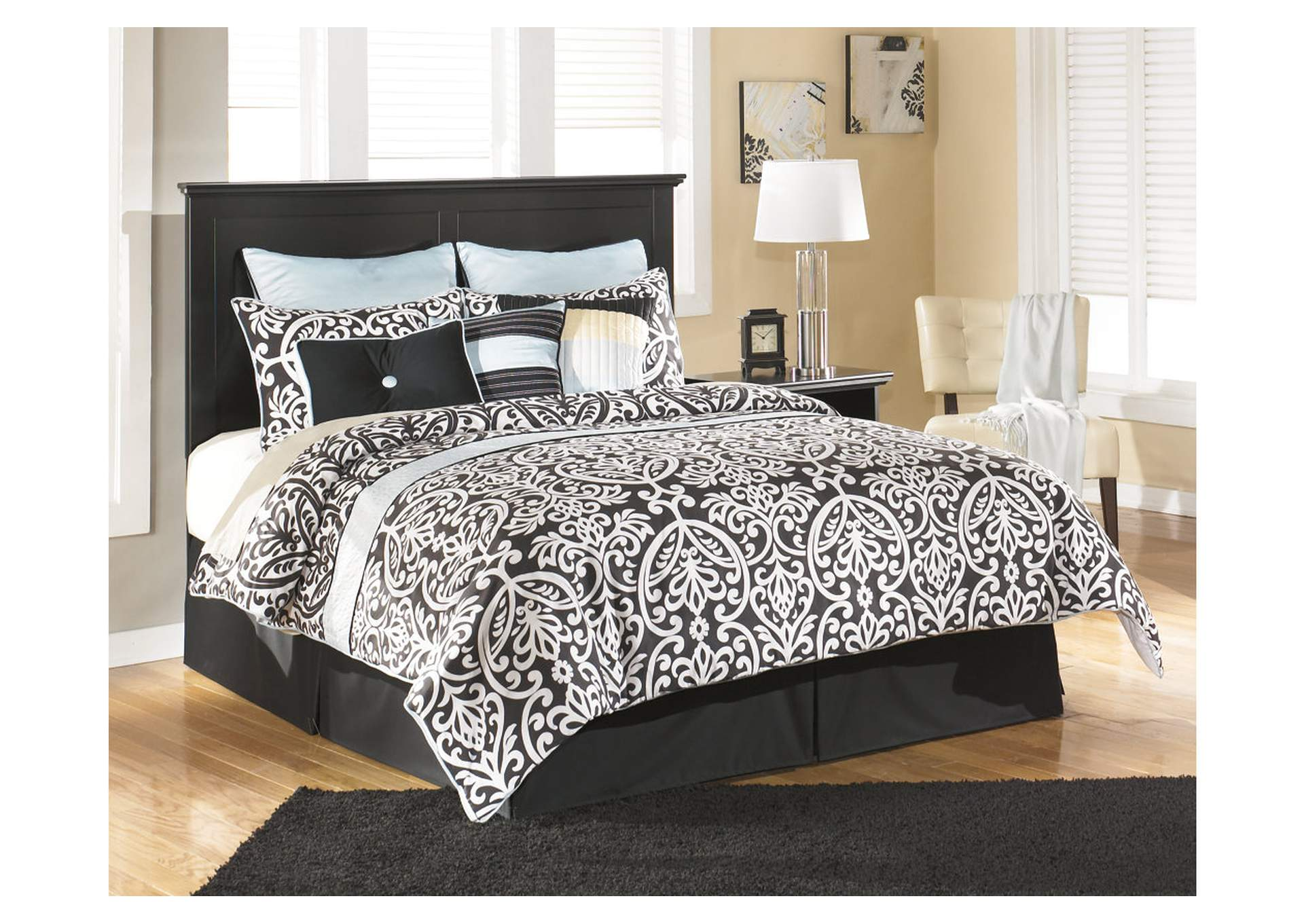 Maribel Black Queen/Full Panel Headboard,Signature Design By Ashley