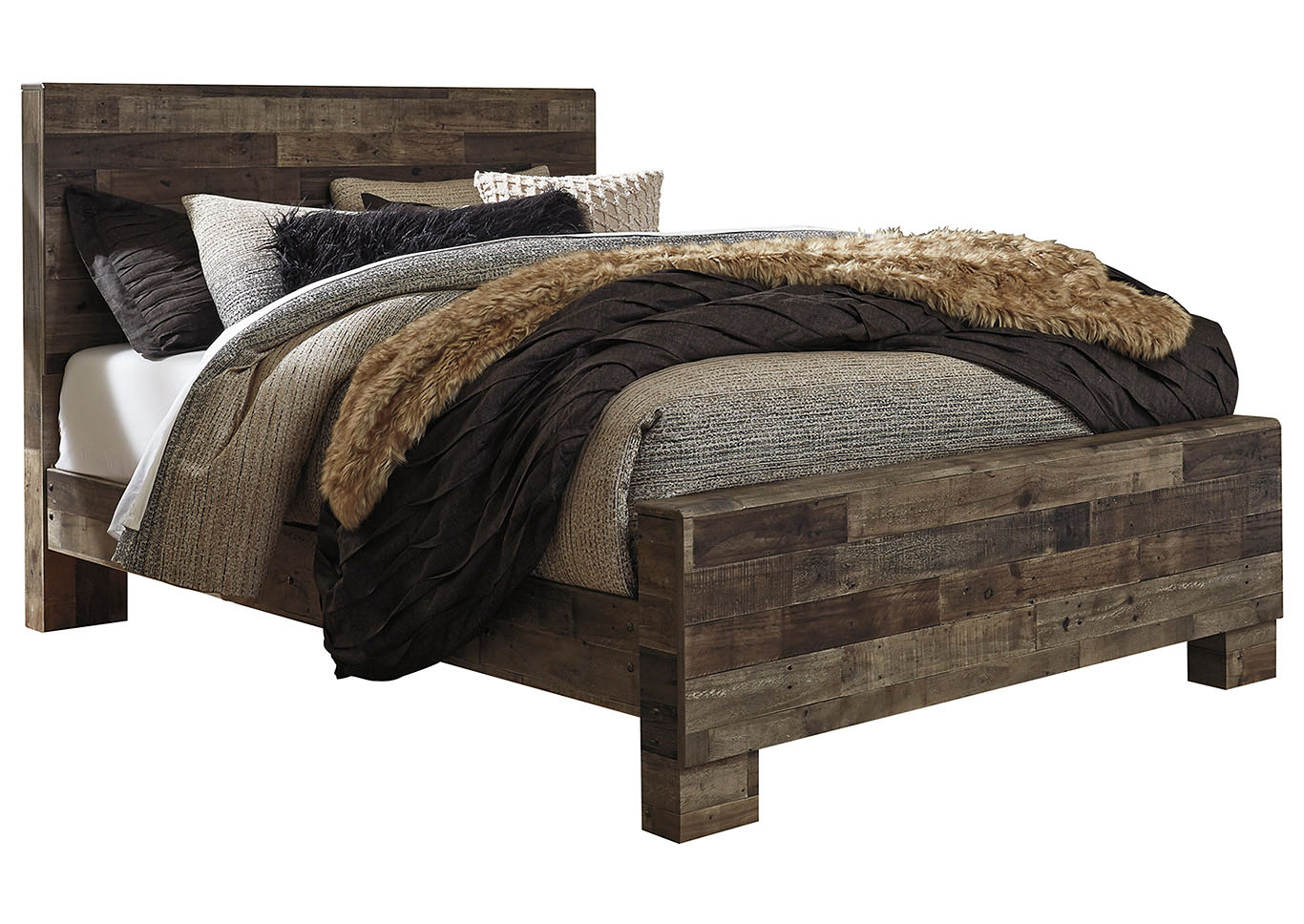 Derekson Multi Gray Queen Panel Bed,Signature Design By Ashley