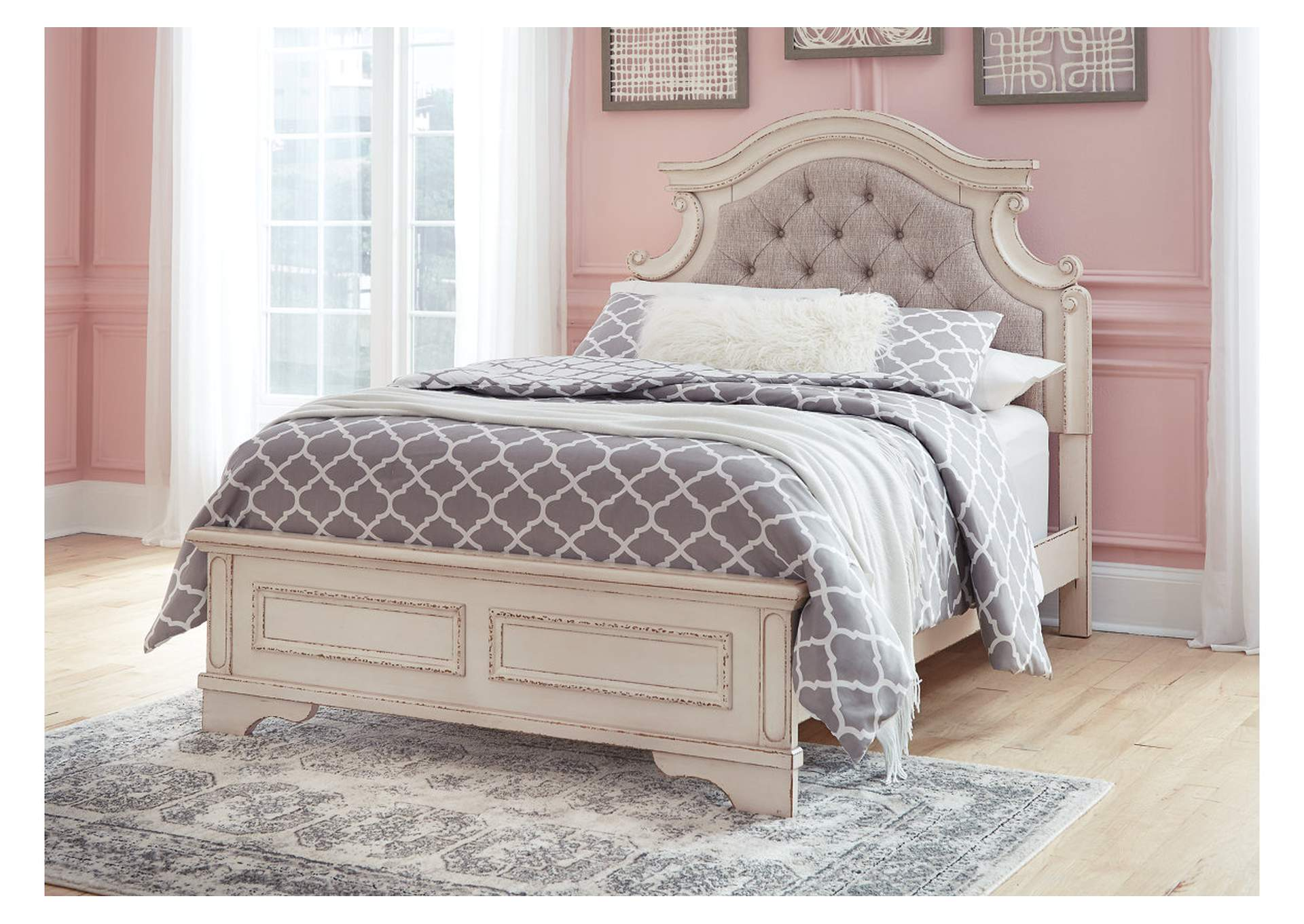 Realyn Chipped White Full Panel Bed,Signature Design By Ashley