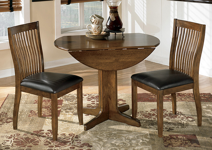 Stuman Round Drop Leaf Table w/2 Side Chairs,Signature Design By Ashley