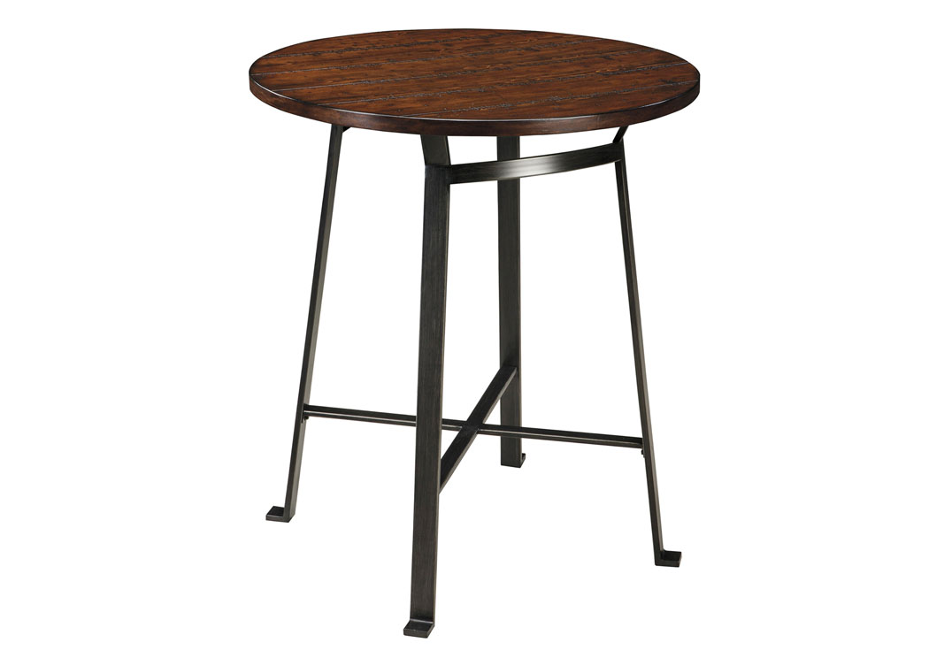 Challiman Rustic Brown Round Counter Height Table,Signature Design By Ashley
