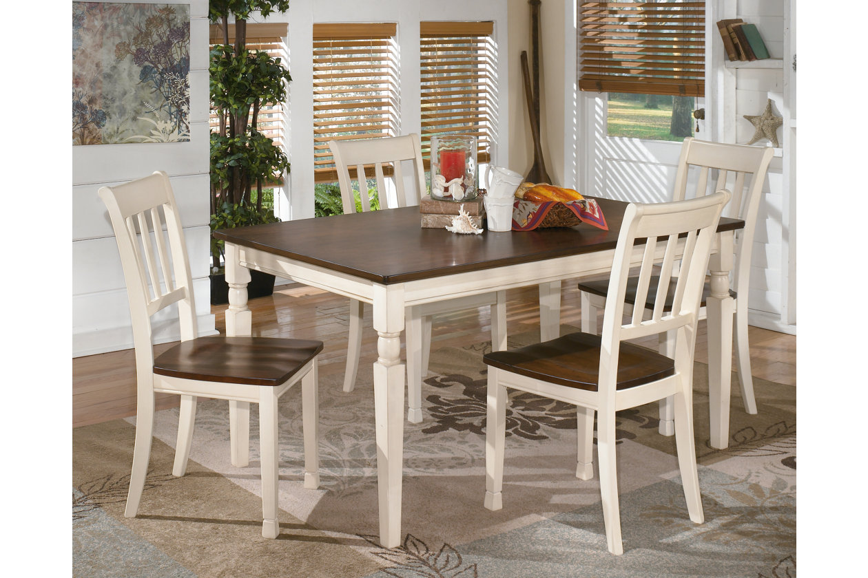 Whitesburg Rectangular Dining Table W 4 Side ChairsSignature Design By Ashley