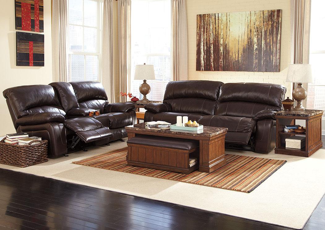 Florissant Furniture Damacio Dark Brown Reclining Sofa Loveseat