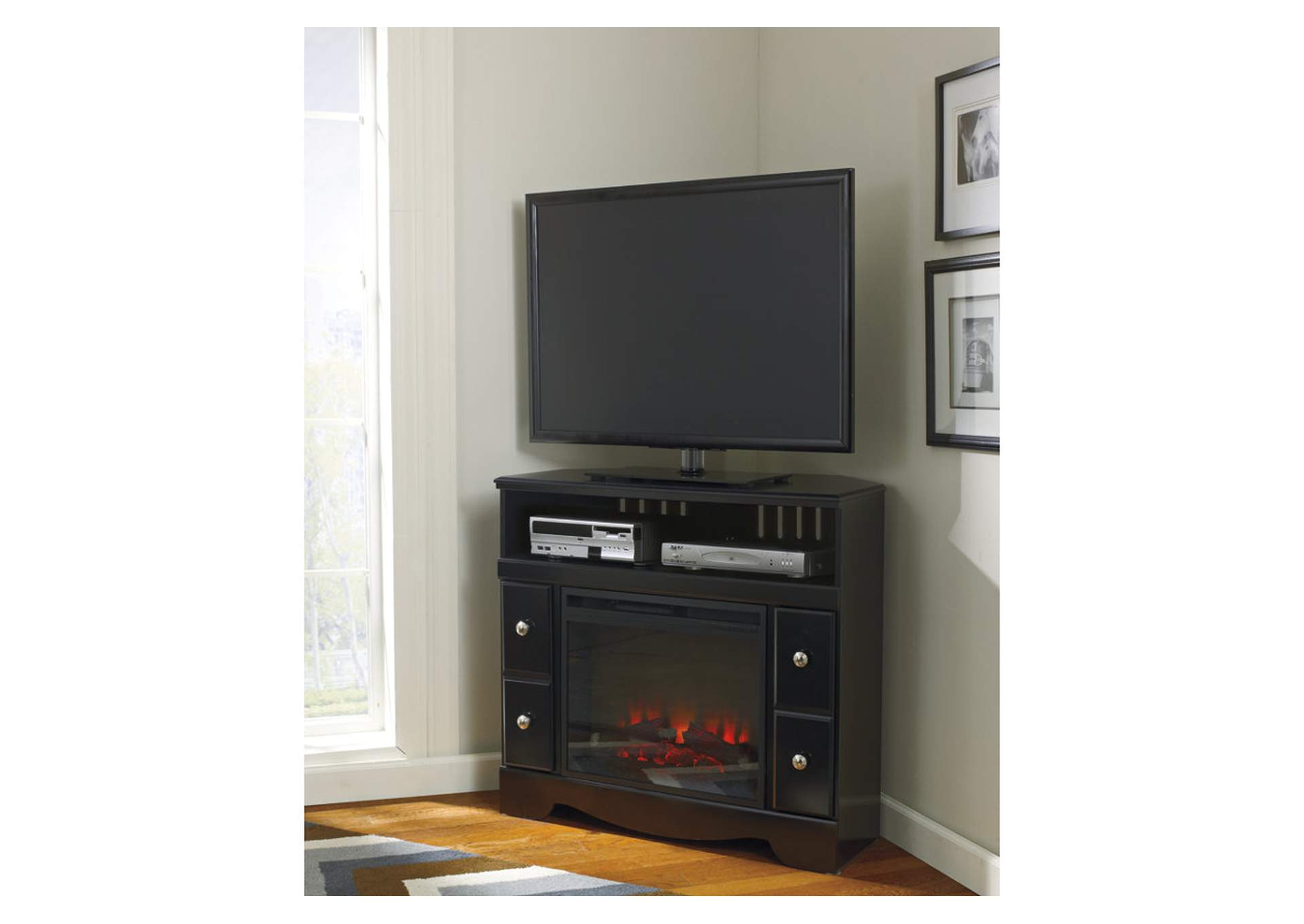 Star Furniture Shay Corner Tv Stand W Led Fireplace