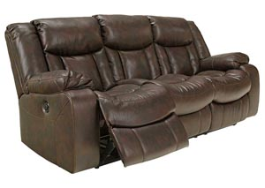 Carnell Walnut Reclining Sofa