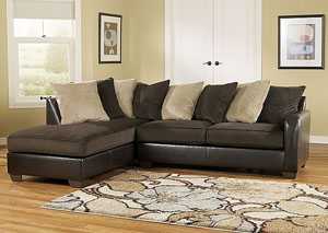 Gemini Chocolate Left Facing Chaise Sectional