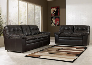 Jordon Java Sofa & Loveseat