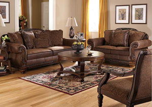 Bradington Truffle Sofa & Loveseat