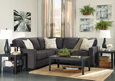 Alenya Charcoal Right Facing Sectional