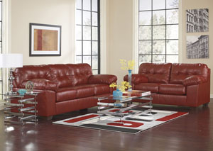 Alliston DuraBlend Salsa Sofa & Loveseat