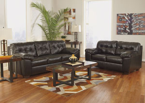 Alliston DuraBlend Chocolate Sofa & Loveseat