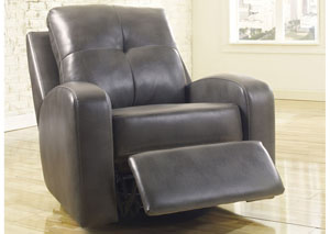 Mannix DuraBlend Gray Swivel Glider Recliner