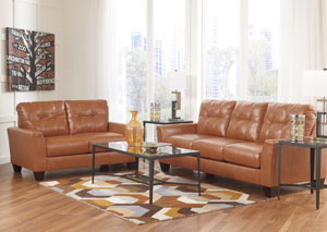 Paulie DuraBlend Orange Sofa & Loveseat