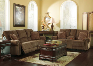 Macnair Umber Reclining Sofa & Loveseat