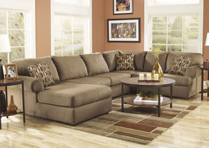 Cowan Mocha Left Facing Chaise End Sectional