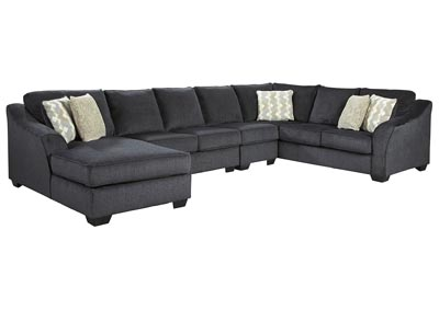 Eltmann Slate LAF Chaise Sectional