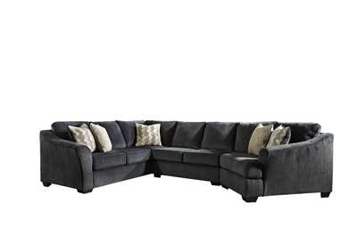 Eltmann Slate 3 Piece Sectional w/RAF Cuddler