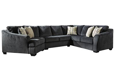 Eltmann Slate 3 Piece Sectional w/LAF Cuddler