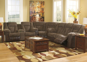 Troubadore Hickory Reclining Sectional