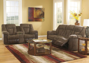 Troubadore Hickory Reclining Sofa & Loveseat