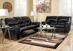 DuraBlend Black Reclining Sofa & Loveseat
