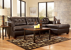 Dixon DuraBlend Chocolate Chaise Sectional