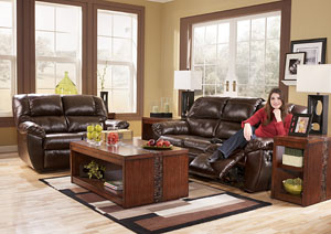Rouge Mahogany Power Reclining Sofa & Loveseat