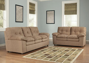 Mercer Mocha Sofa & Loveseat