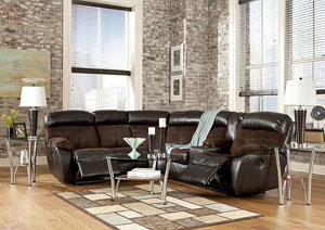 Berneen Coffee Reclining Sectional