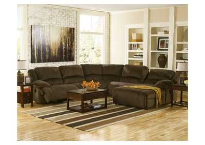 Toletta Chocolate Right Facing Chaise End Reclining Sectional