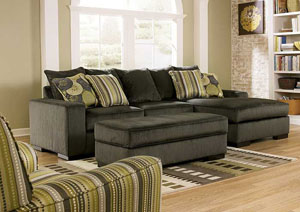 Freestyle Pewter Sectional