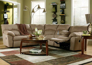 Amazon Mocha Reclining Sectional