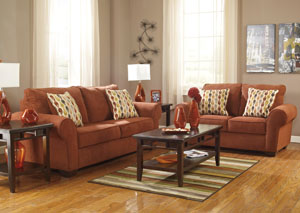 Deandre Terra Cotta Sofa & Loveseat