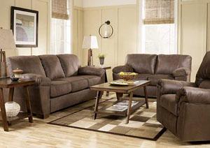 Amazon Walnut Sofa & Loveseat