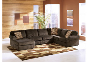 Vista Chocolate Left Facing Chaise Sectional