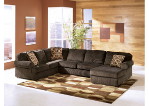 Vista Chocolate Right Facing Chaise Sectional