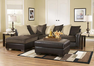 Vivanne Chocolate Left Facing Chaise Sectional